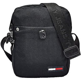 Tommy Hilfiger Campus Boy Mini Reporter Unisex Classic Side Bag in Black