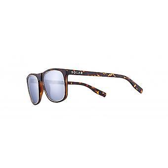 Sunglasses Unisex Cat.3 matte brown flamed/blue (JSL1199)
