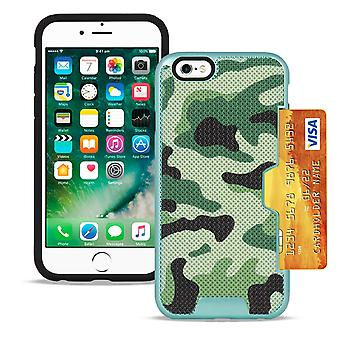 Camouflage Cover for Apple iPhone 6 Plus/6s Plus Camouflage Hard-Plastic Green