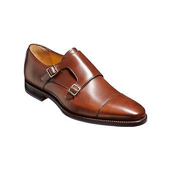 Barker Edison - Dark Walnut Calf  | Mens Handmade Leather Monk Strap | Barker Shoes