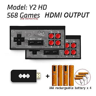 4k Hdmi Video Game Console Built In 568 Classic Games Mini Retro Console Wireless Controller For Hdmi Output Dual Players