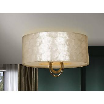 4 Light Flush Ceiling Light Gold, E27