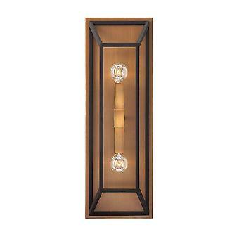 Elstead Fulton - 2 lys innendørs vegg lys bronse, E14