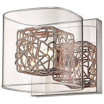 1 Ljus Inomhusglas Vägg Ljus Chrome, Koppar, G9