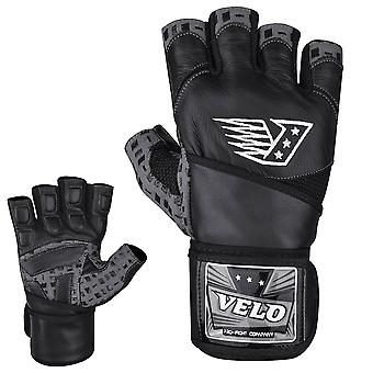 VELO G1 Leather Weight Lifting Gloves