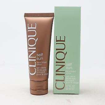 Clinique Self Sun Face Getinte Lotion 1.7oz/50ml Nieuw met doos