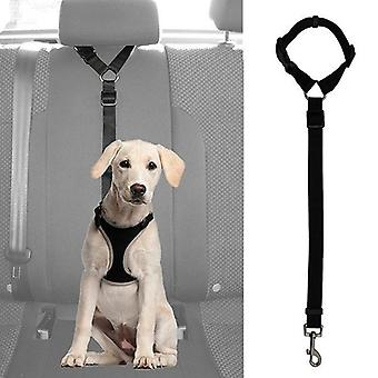 Practical Pet Safety Adjustable Car Seat Belt, Harness Leash Travel Clip Strap