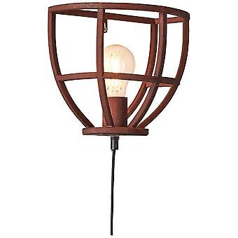 BRILLIANT Lamp Matrix Seinävalaisin Tulo ja kytkin Ruosteenvärinen   1x G95, E27, 60W, sopii normaaleihin valaisimista (ei