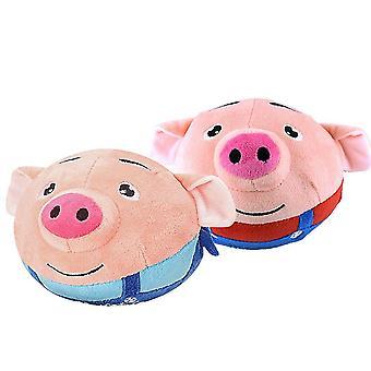 Cartoon Pig Jumping Ball Funny Music's Toys Birthday (color aleatorio)