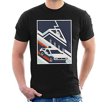 Back to the Future Delorean By Hill Valley Men's T-Shirt