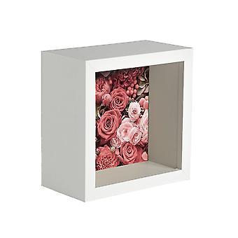 Nicola Primavera 5 pieza caja de la foto marco conjunto - 4 x 4 marco de acrílico cuadrado - blanco