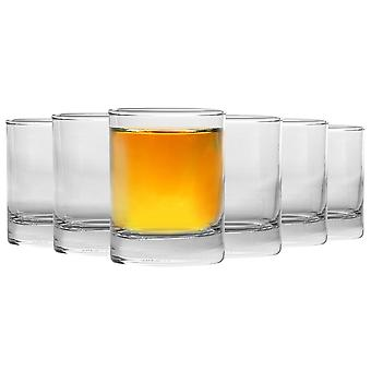 Rink Drink 6 Piece Glass Shot Ochelari Set - Heavy Base Party Shooter Lichior Ochelari - 65ml