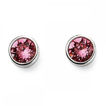 Beginnings Sterling Silver Oct Birth Stone Earrings E5565