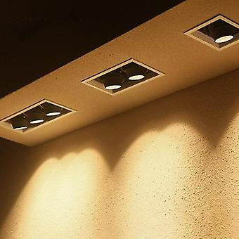 Gu10 Led gewagt E-Bett-Deckenleuchte Double Head Bean Bum Spotlight einstellbare Winkel Grille