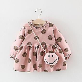 Baby Girls Vest Winter, Vesten Warme bontjas met tas