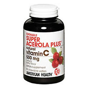 American Health Super Acerola Plus, 500 mg, Chewable 100 Tabs