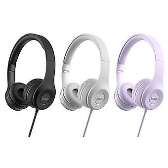 HOCO W21 HIFI Stereo Metal Wired Control Headphone Foldable Headset