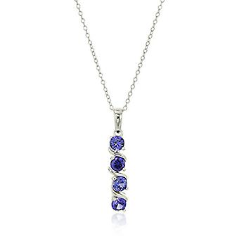 Sterling Silver Created Alexandrite Sapphire Four Stone, white, Size No Size