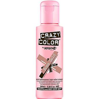 Renbow Crazy Color Semi Permanent Hair Dye - Rose Gold 100ml