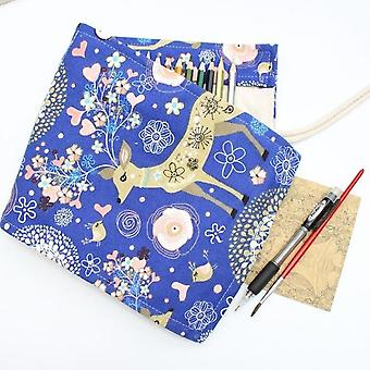 Pencil Case 36-holes, Art Pen Bag Pouch, Wrap Roll, Makeup Cosmetic Brush Pen