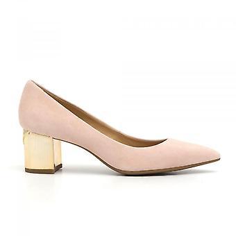 Décolleté Paloma In Suede Pink Heel Medium