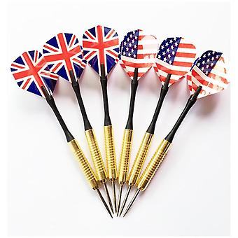 Professional Steel Tip Darts Set With Two-kind Nice Flag, Pattern Tips, Points