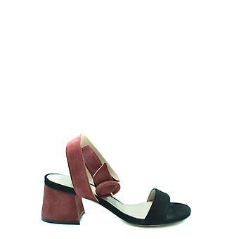Stuart Weitzman Ezbc158032 Women's Black Suede Sandals