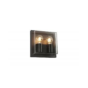 Rosie Wall Lamp, 2 X E27, Ip65, Anthracite/clear Pc, 2yrs Warranty