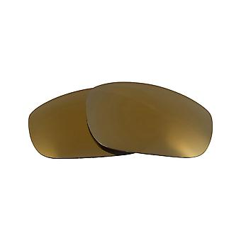 Replacement Lenses for Oakley Fives 2009 Sunglasses Anti-Scratch Gold Mirror