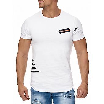 Футболка мужская вырежьте трещины сетки верхней короткий рукав рубашки молния