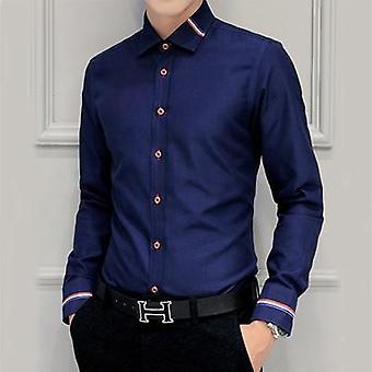 Män Fashion Slim Fit Casual skjorta