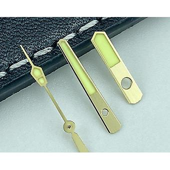 Golden Watch Hands Szett Mod Gold Skx Srpd 4r35 7s26 Nh35 Nh36 Mov't Super C3