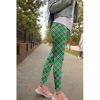 Plaid Leggings Capris And Shorts