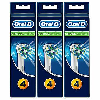 Oral-B Braun Cross Action Ersatz Zahnbürste Köpfe, 3 Pack