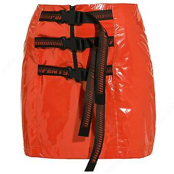 Puma X Rihanna Fenty Womens Gürtel Minirock PVC Orange 577329 02 A83E