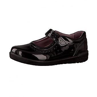 RICOSTA Mary Jane sko med udstansede Detalje Black Patent