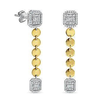 Korvakorut Bohemian Smaragdi leikkaus roikkuu 18K kultaa ja timantteja