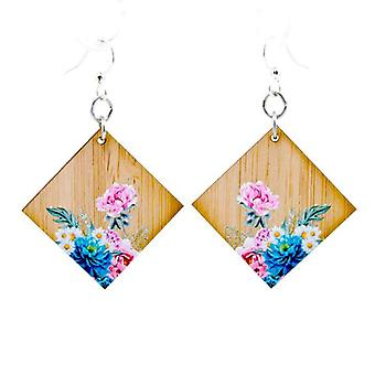 Floral Artistry Bamboo Earrings