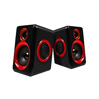 Surround Portable Computer Speakers With Stereo Bass Usb Wired