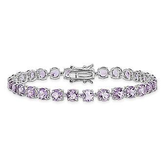 12.75 Carat (ctw) Amethyst Bracelet in Sterling Silver