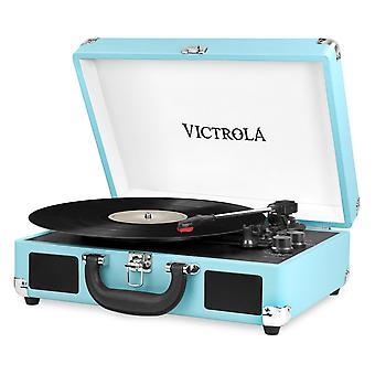 Victrola bőrönd bluetooth 3 sebességes lemezjátszó - türkiz