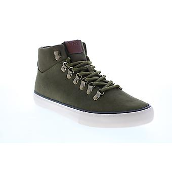 Andrew Marc Brownsville Mid  Mens Green Canvas Lifestyle Sneakers Shoes