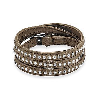 s.Oliver jewel ladies bracelet stainless steel leather SO1074/1 - 489812