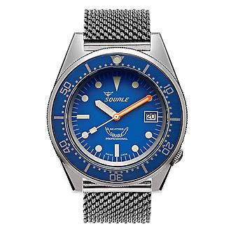 Squale 1521BLUEBL.ME20 500 Meter Swiss Automatic Dive Wristwatch Mesh