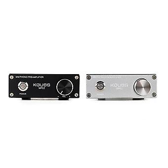 KGUSS MP02 LP Vinyl Record Turntable Player PHONO Preamplifier Amplifier Support RCA GND