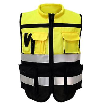 Reflective High Visibility Warning Safety Vest - Fluorescent Clothing