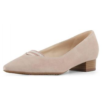 Peter Kaiser Adine Low Heel Pump In Mauve Suede