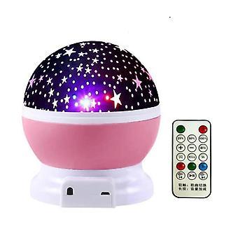Starry Galaxy -projektori - Bluetooth Usb, Ääniohjaus, Musiikkisoittimen ledi, Yö