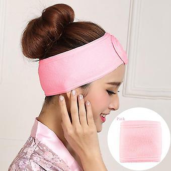 Verstelbare brede haarband, make-up hoofdband, handdoek haar wrap, douche cap,