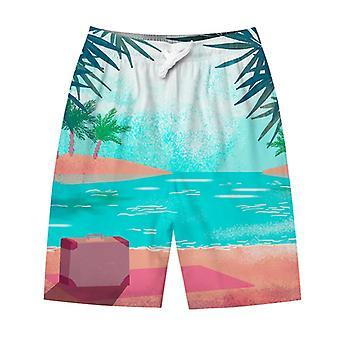 YANGFAN Uomo Spiaggia Stampa Pantaloncini Casual Moda